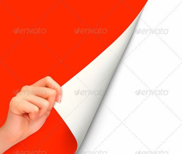 Blank sheet of paper with hand - Backgrounds Business