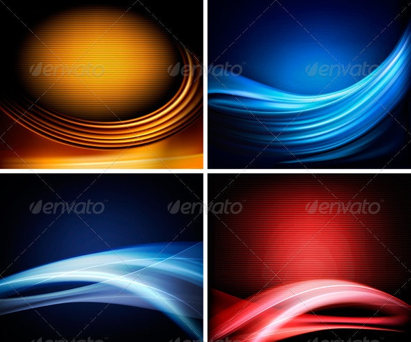 Set of business colorful abstract backgrounds - Backgrounds Decorative