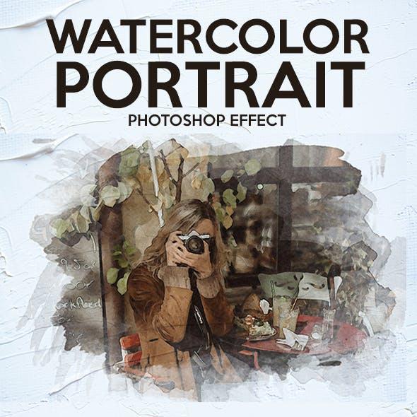 Watercolor Portrait Photoshop Effect