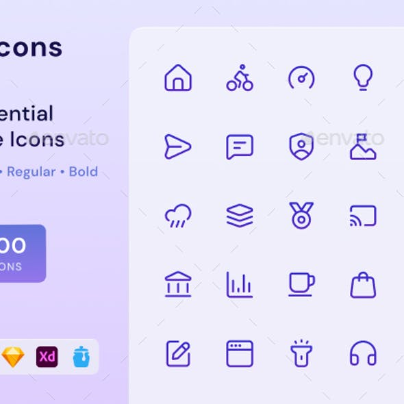 Slicons Essential Line Icons