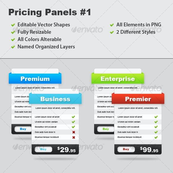 Pricing Panels #1