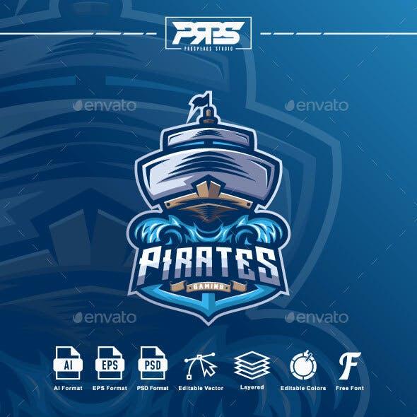 Pirates Ship Esport Logo