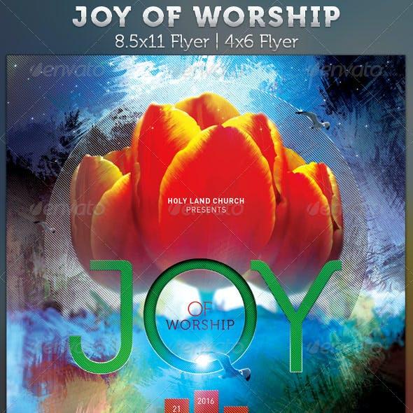 Joy of Worship: Gospel Concert Flyer
