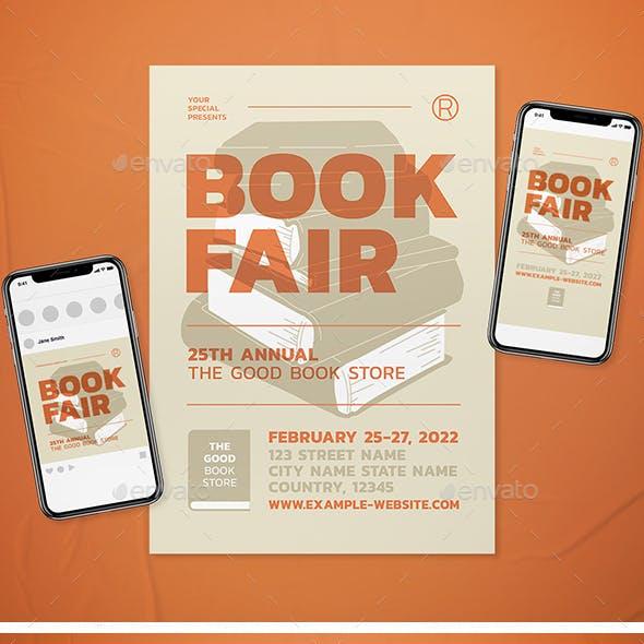 Book Fair Event Flyer Set