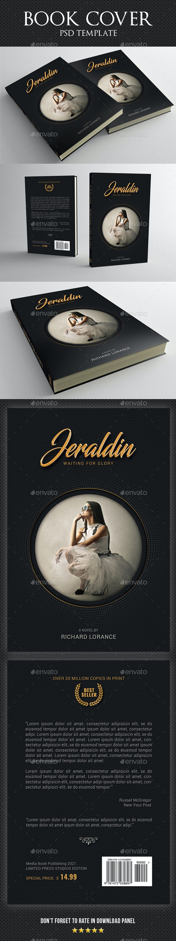 Book Cover Template 82 - Miscellaneous Print Templates