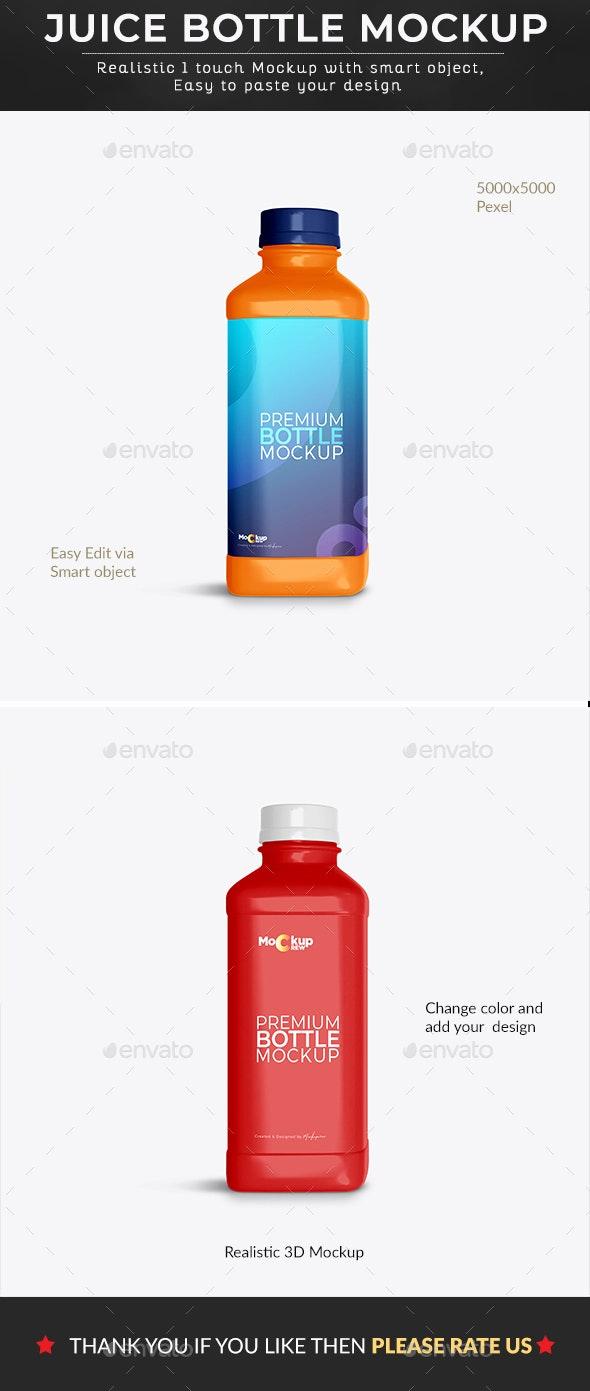 Premium Juice Bottle Mockup - Graphics