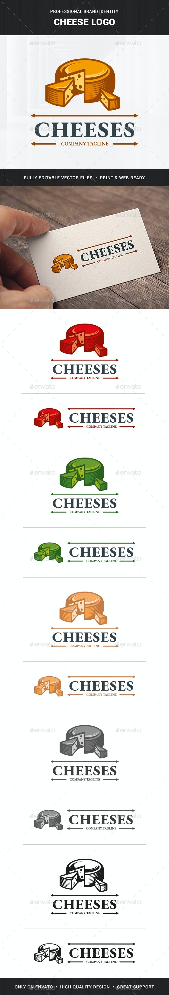 Cheese Logo Template - Food Logo Templates