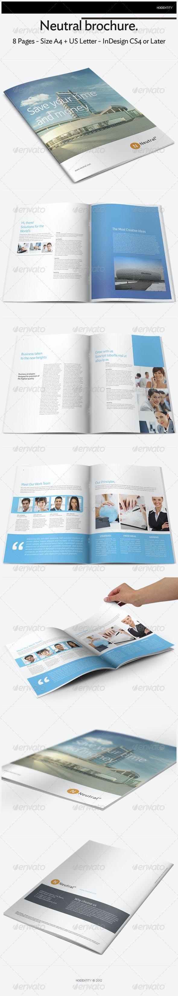 Neutral Brochure - Brochures Print Templates