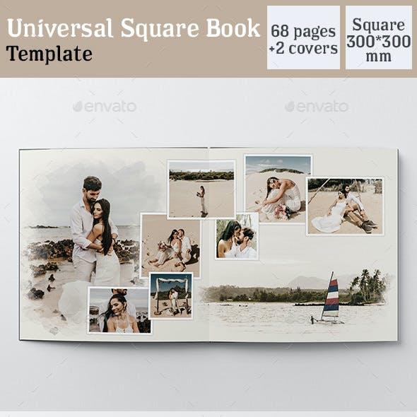 Universal Square Book Template