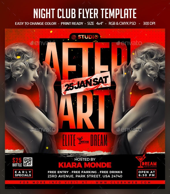Night Club Flyer Template - Clubs & Parties Events