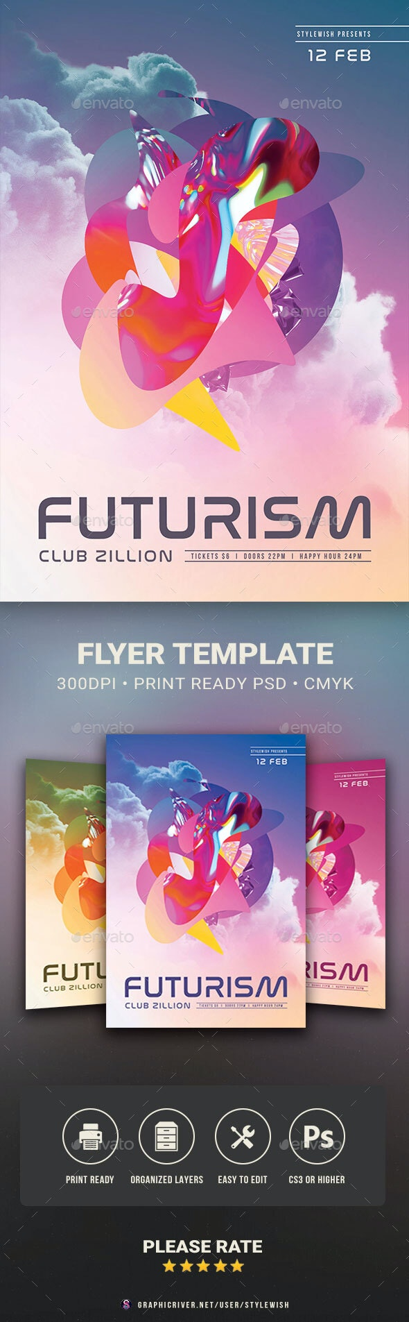 Futurism Flyer - Clubs & Parties Events