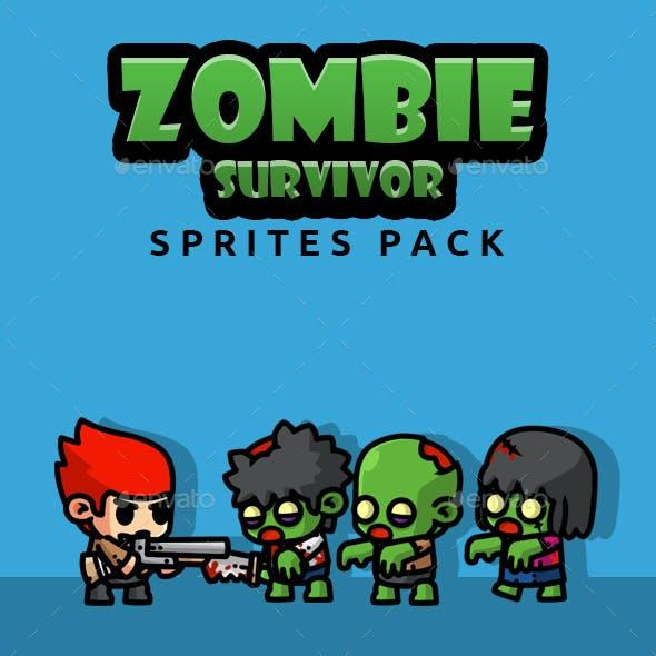 Zombie Survivor Sprites Pack