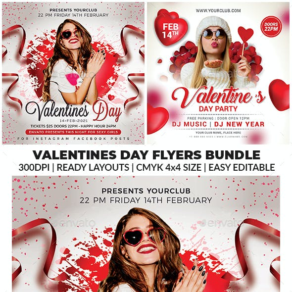 Valentines Day Flyer Bundle