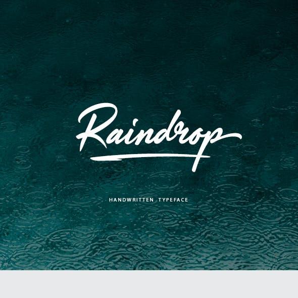 Raindrop Handwritten Font