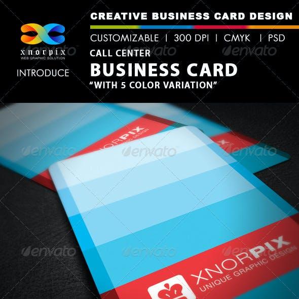 Call Center Business Card