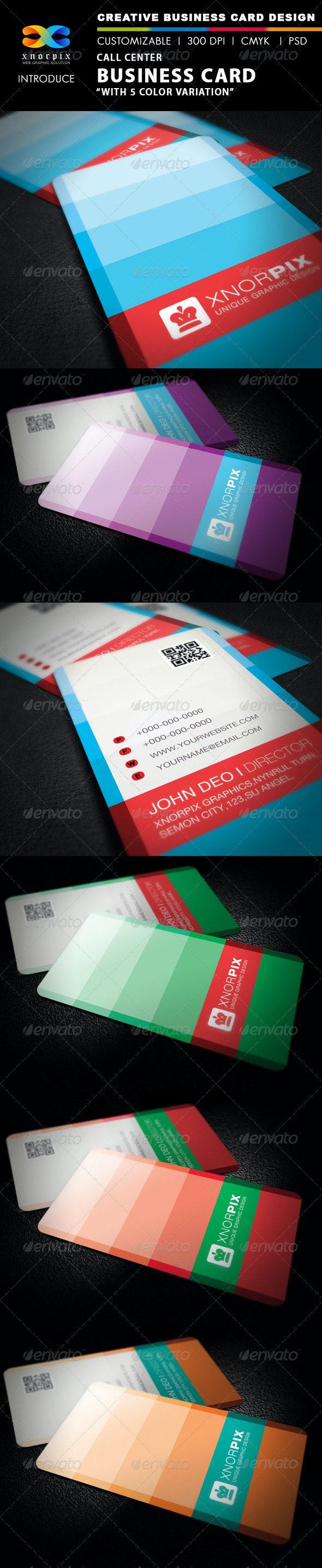 Call Center Business Card - Creative Business Cards
