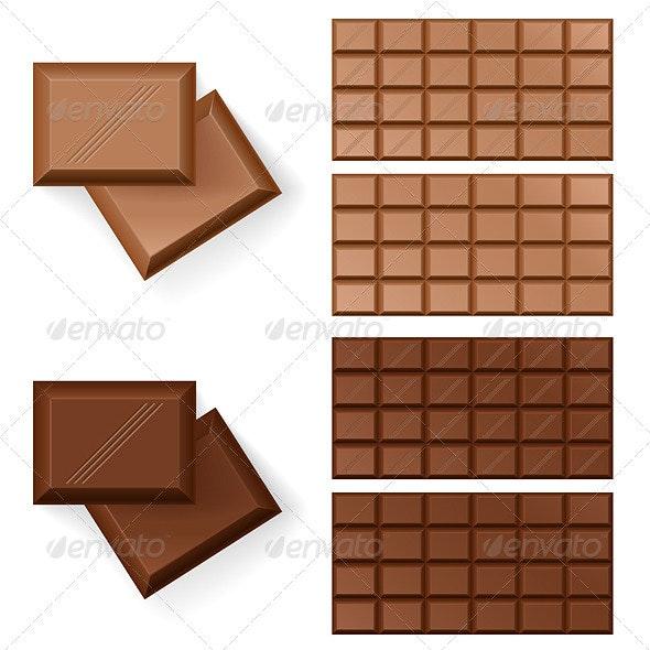 Chocolate bars  - Food Objects