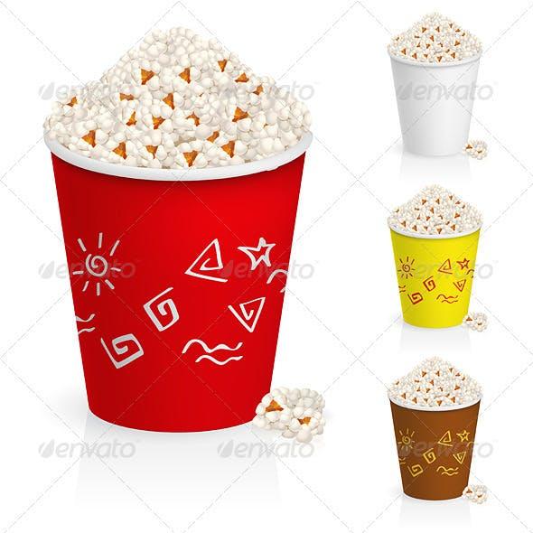 Popcorn in fun multi-colored glasses