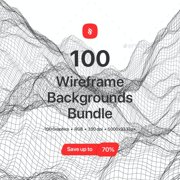 100 Wireframe Backgrounds Bundle