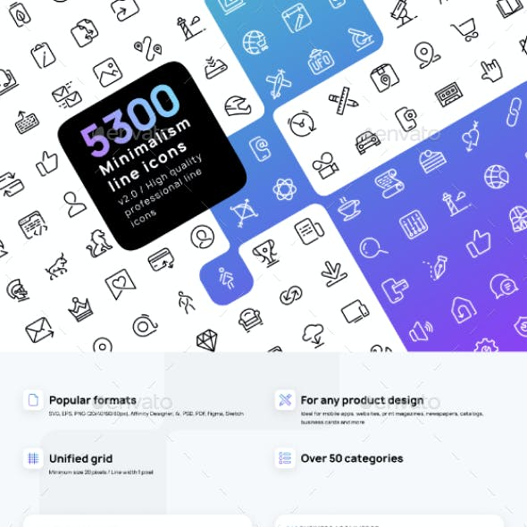 Minimalline - Premium line icons set