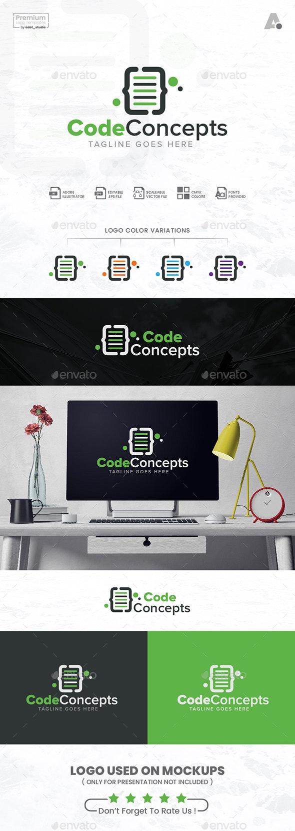 Coding Logo, Code concepts logo - Abstract Logo Templates