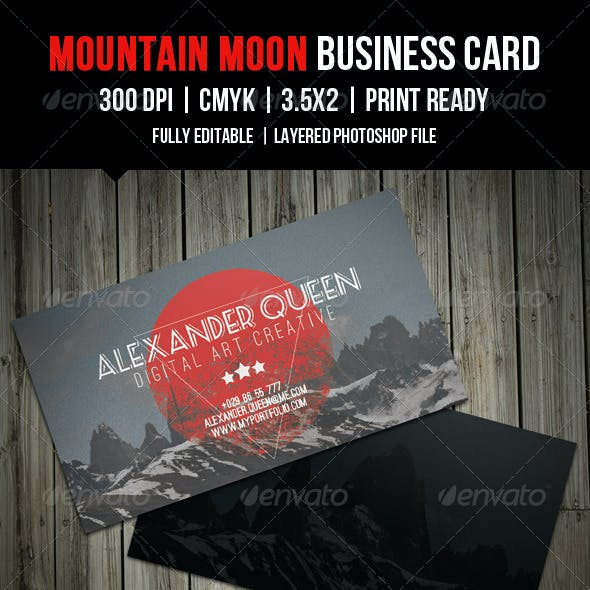 Mountain Moon Business Card