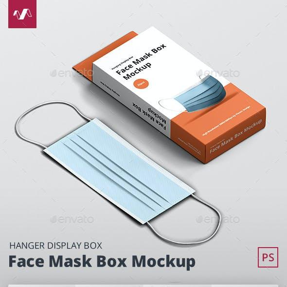 Face Mask Box Mockup Hanger