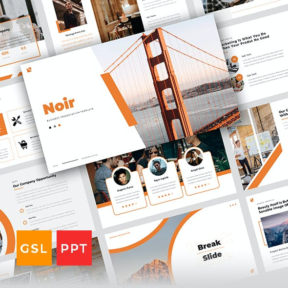 Noir - Business Presentation Template