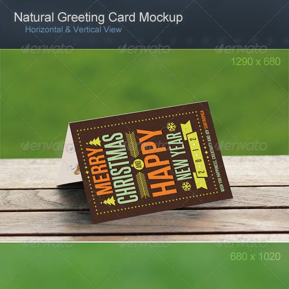 Natural Greeting Card Mockup