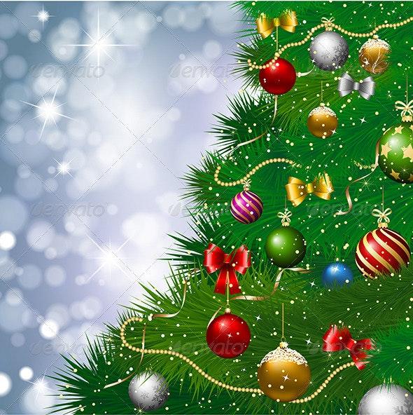 Christmas tree background - Christmas Seasons/Holidays
