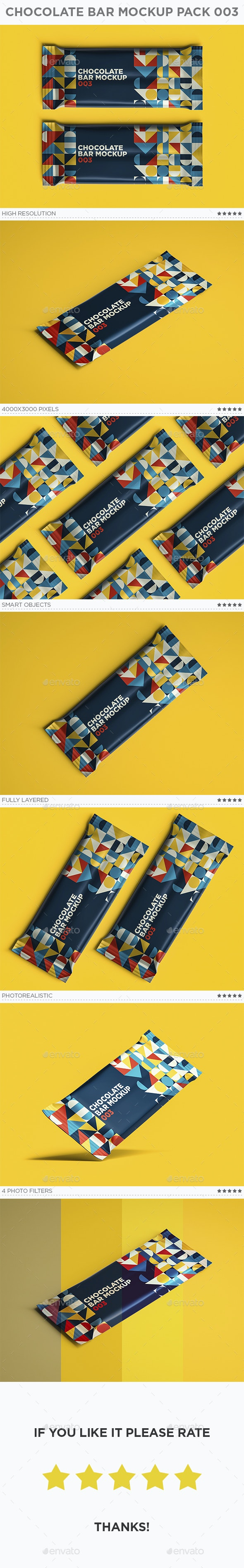 Chocolate Bar Mockup Pack 003 - Food and Drink Packaging