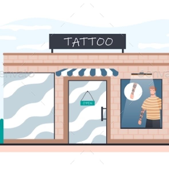 Tattoo Salon Exterior From Outdoors