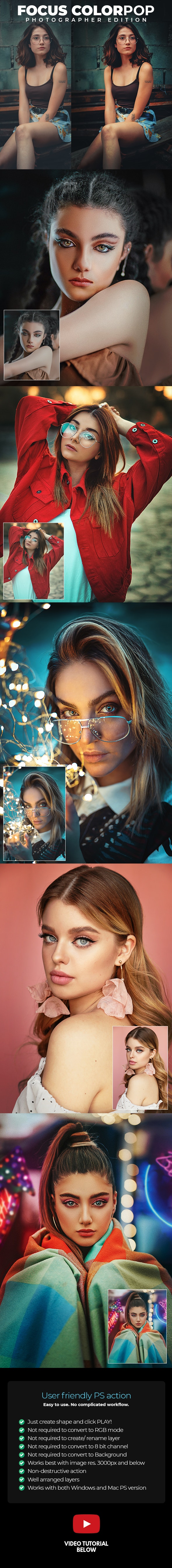 Focus Colorpop - Photoshop Action - Photo Effects Actions