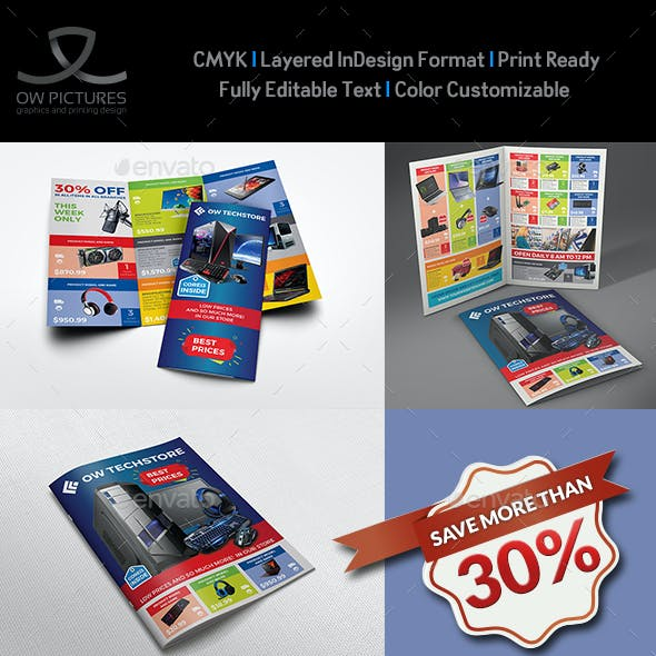 Computers and Electronics Products Catalog Brochure Bundle Template