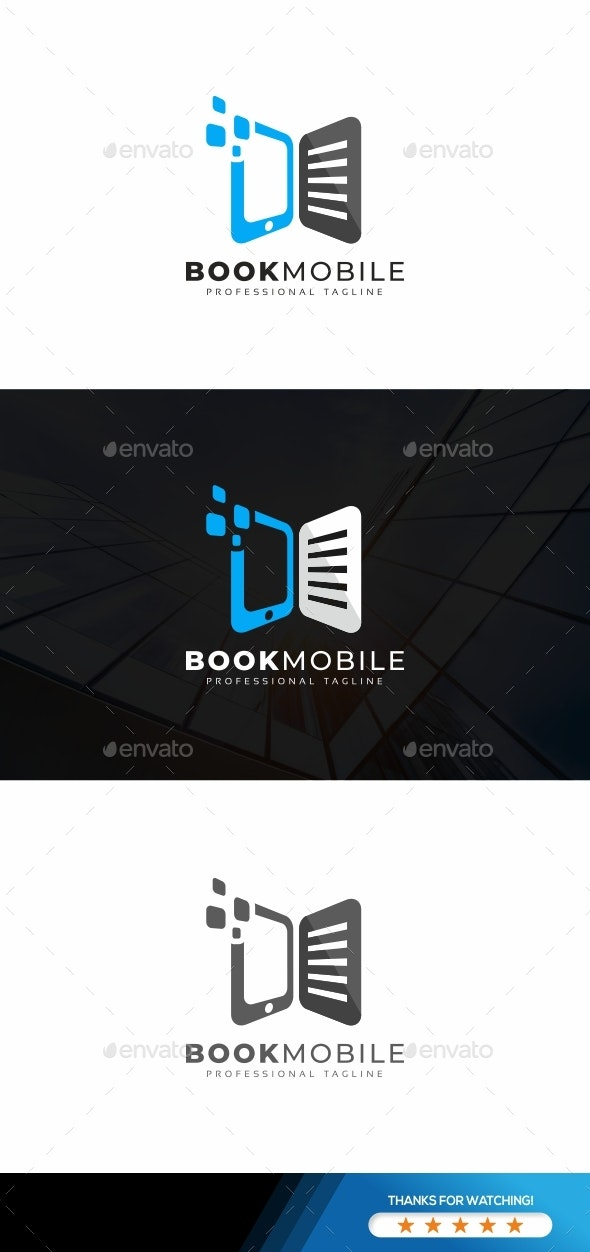 Book Mobile Logo - Objects Logo Templates