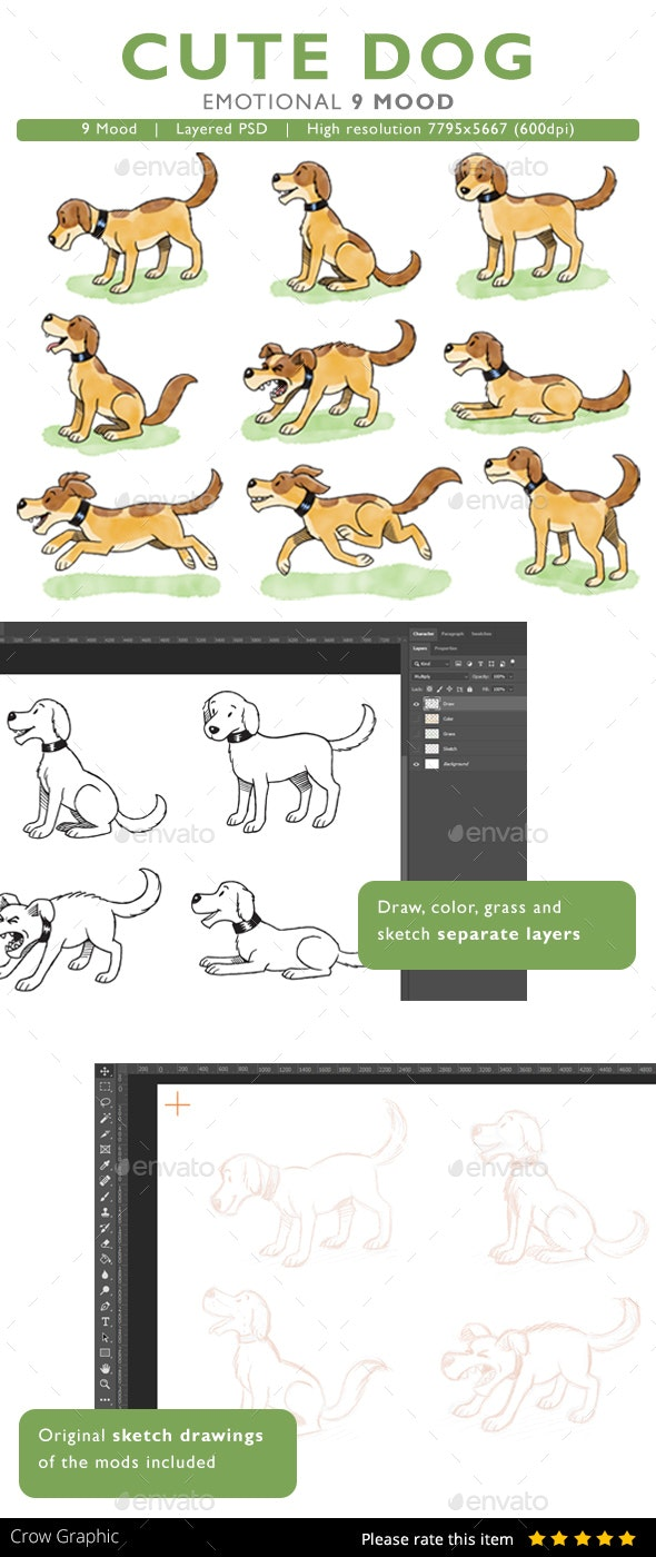 Cute Dog - Animals Illustrations