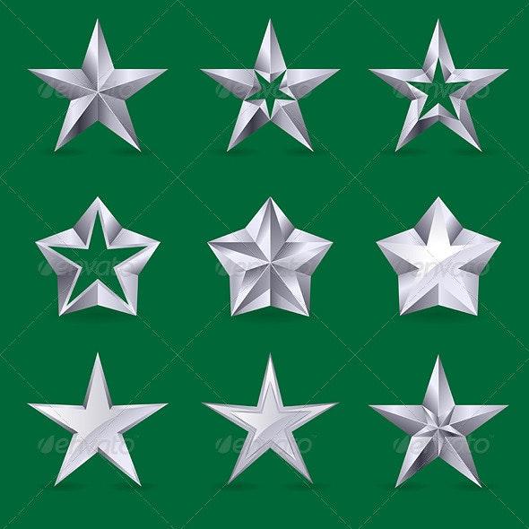 Set of different stars icons - Decorative Symbols Decorative