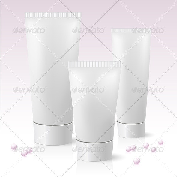 Three cosmetic tube - Man-made Objects Objects