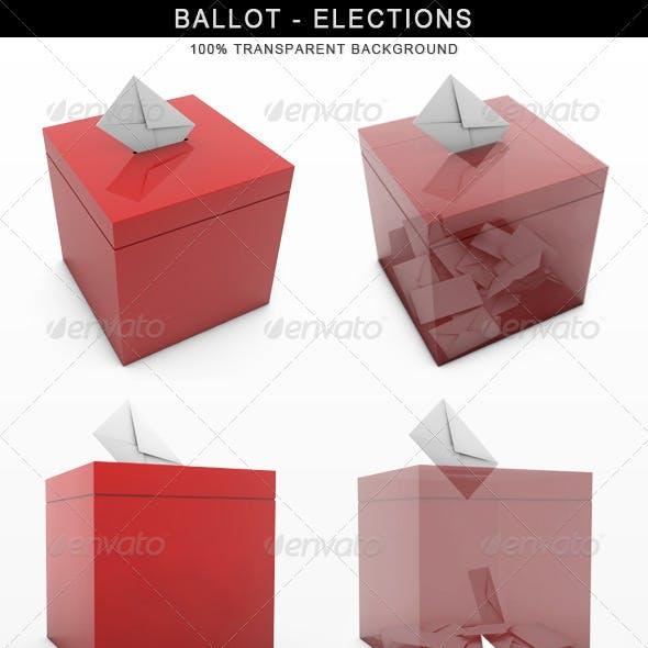 Ballot Elections Vote 3D