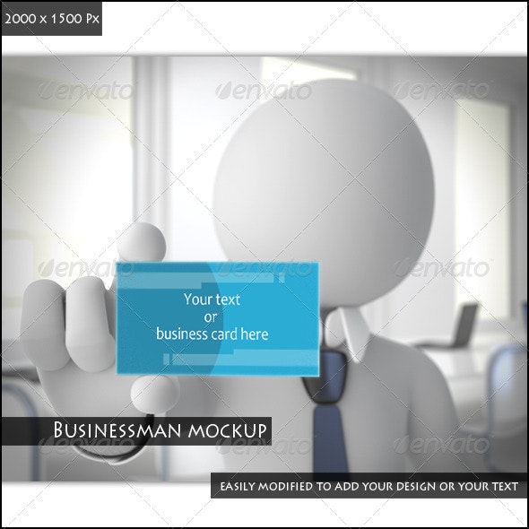 Businessman Mockup - Business Cards Print