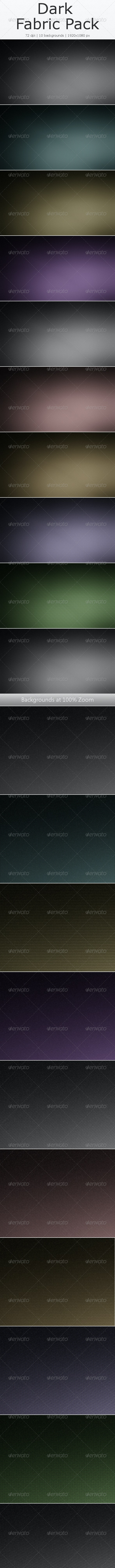 Dark Fabric Background Pack - Miscellaneous Backgrounds