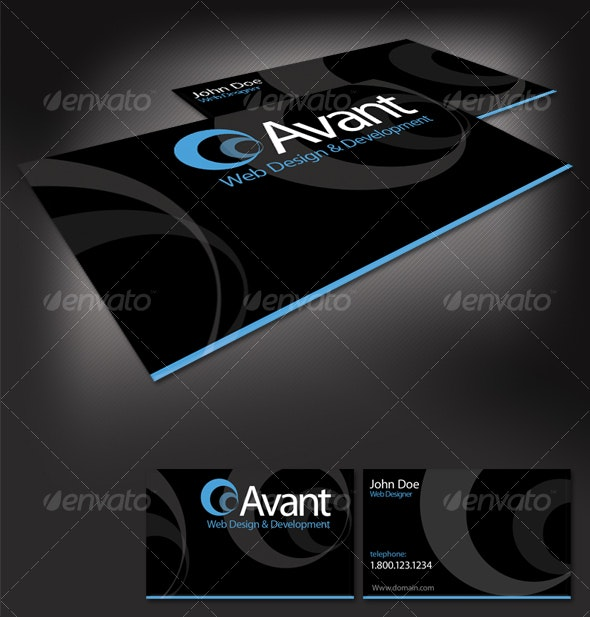 Avant Business Card - Creative Business Cards