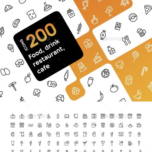 Food & Drink Icons Set