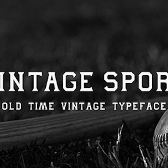Vintage Sport Typeface
