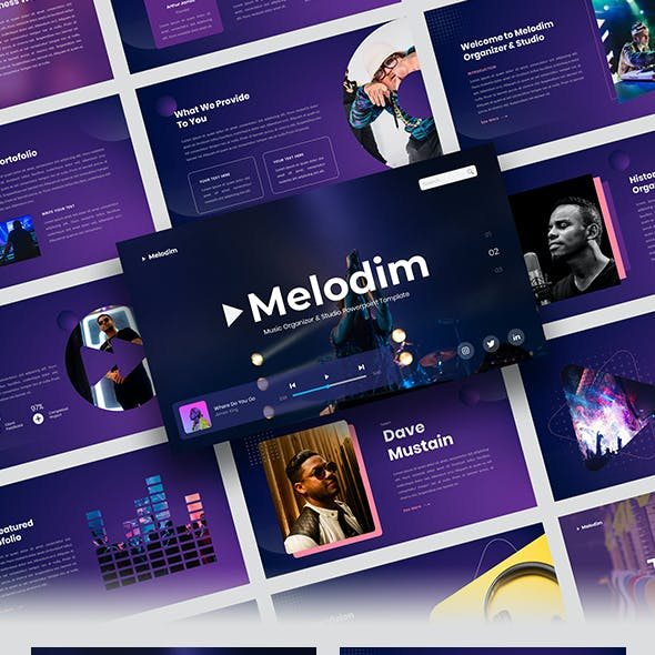 Melodim – Music Organizer & Studio Keynote Template