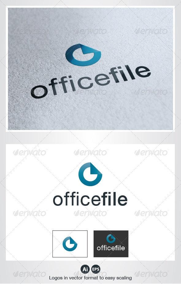 Office File O Letter Logo - Letters Logo Templates