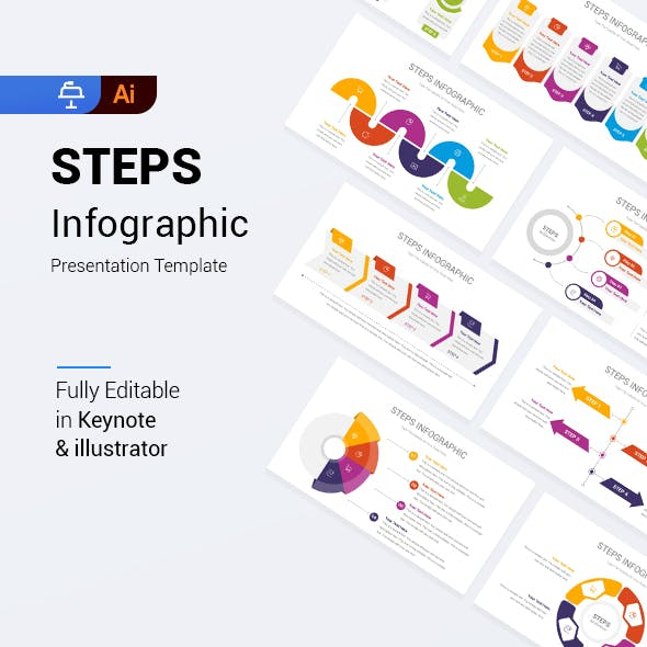Steps Infographic Keynote Template
