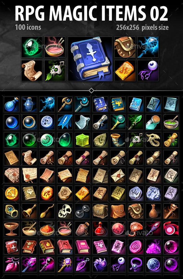 RPG Magic Items 02 - Miscellaneous Game Assets