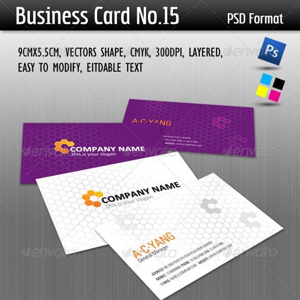 Business Card No.15