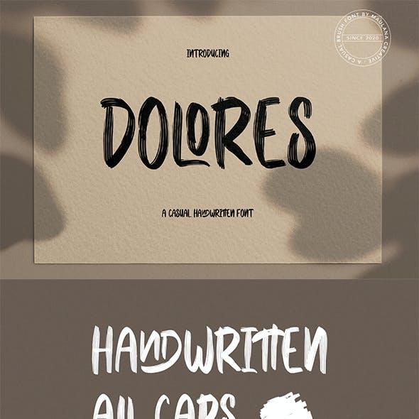 Dolores Casual Handwritten Font